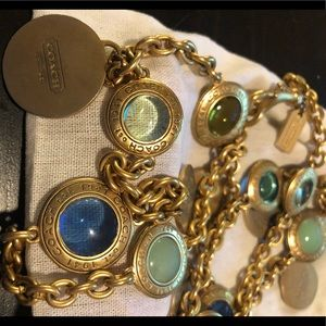 Coach Daphne Snapjead Necklace in Blue and Green